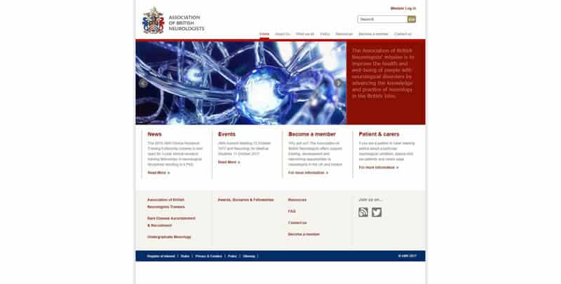 The Association of British Neurologists MODX website