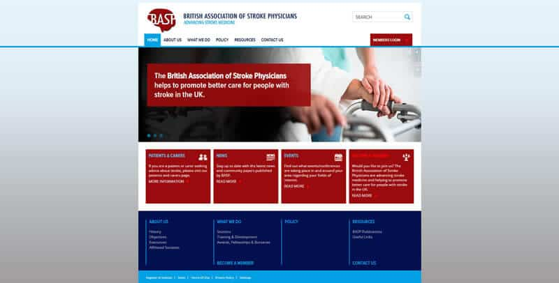 British Association of Stroke Physicians WordPress website