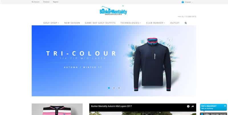 Bunker Mentality Magento eCommerce website