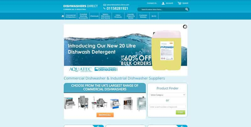 Dishwashers Direct Magento eCommerce website
