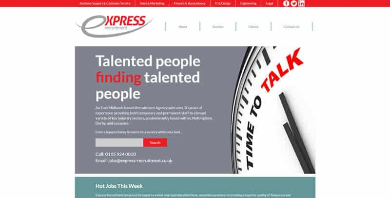 Express Recruitment MODX website