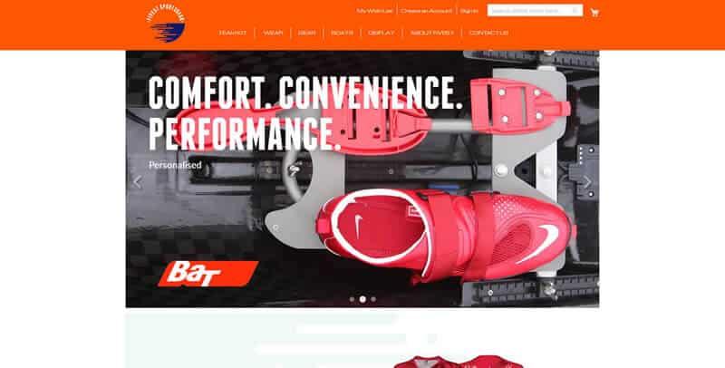 Five57 Sportsgear Magento eCommerce website