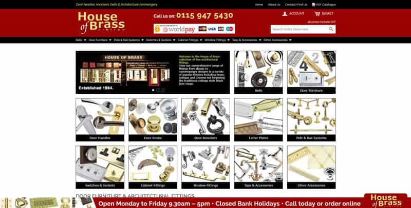 House of Brass Magento eCommerce website