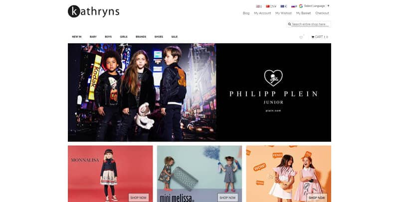 Kathryns Magento eCommerce website