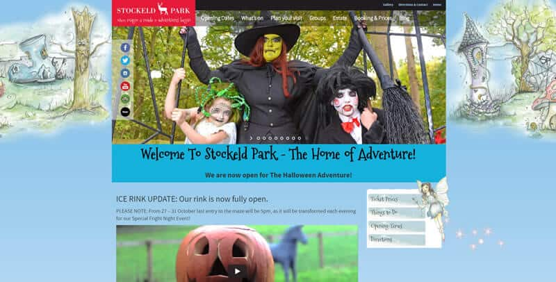 Stockeld Park WordPress website