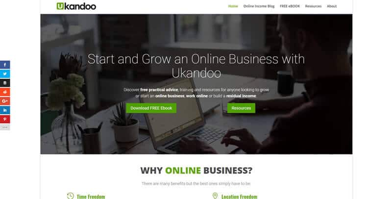Ukandoo WordPress website