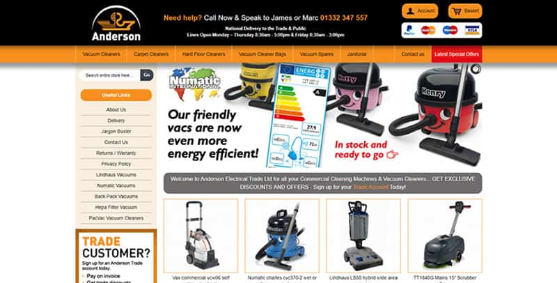 Anderson Trade Magento eCommerce website