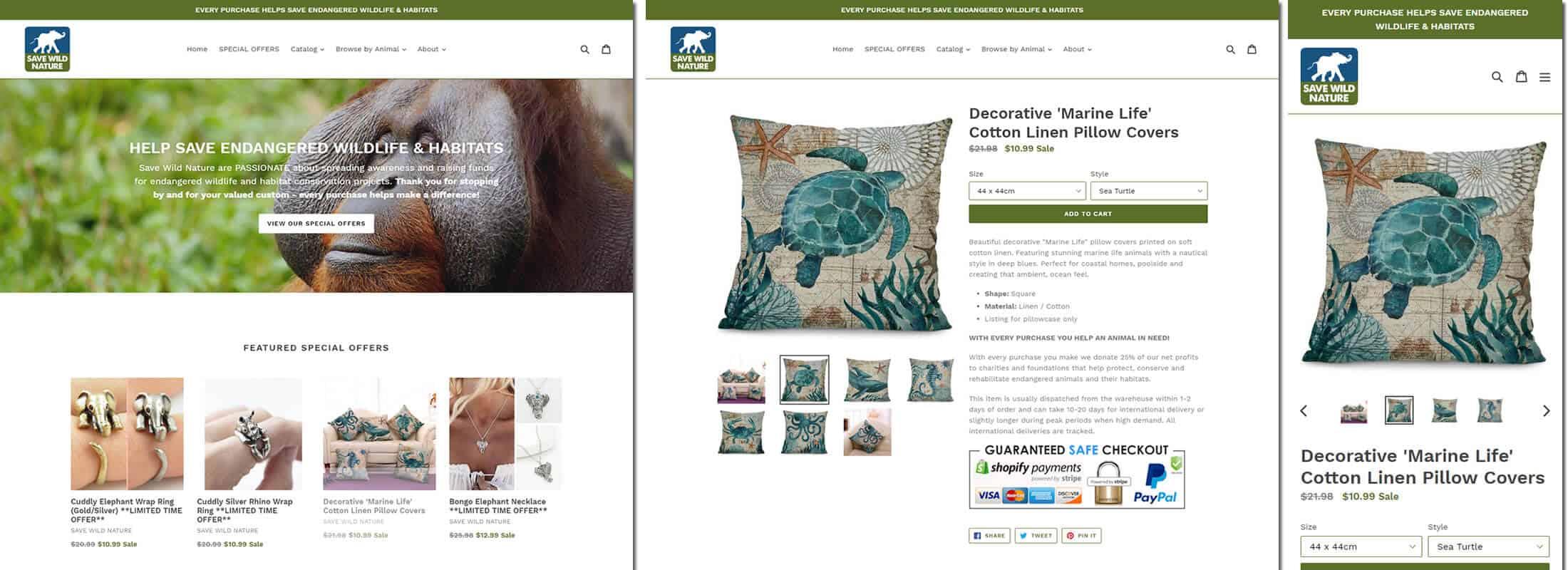 Example Shopify eCommerce website designed by Kuki
